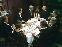 Reverend Walters (Peter Copley) invites the Professor (James Maxwell) and his party to dinner.