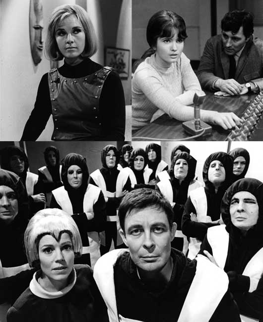Missing, believed wiped: three lost episodes of Out of the Unknown: Wanda Ventham in The Eye; Deborah Watling and Mark Eden in The World in Silence; Jean Aubrey, Paul Daneman and his replicas in Too Many Cooks