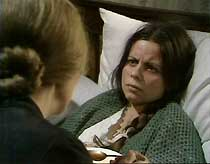 Bella (Jean Heywood) feeds soup to the sickly Mary (Michelle Newell).